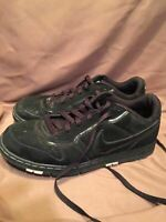 (USED/WORN) NIKE AIR MENS SIZE 8.5 BLACK ATHLETIC SHOES
