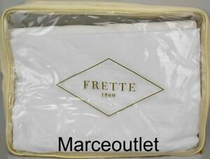 Frette Simply Cotton Sateen QUEEN Flat Sheet & Cases White