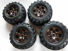 HPI Savage Flux 1/8 4 Kompletträder / Set aus Reifen #H4462 + Felge #H105801,NEU