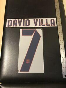 13/14 BARCELONA DAVID VILLA #7 AWAY JERSEY AUTHENTIC NAMESET UNISPORT