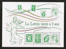 2014 Bloc N° 4908 LA LETTRE VERTE A 3 ANS **LUXE