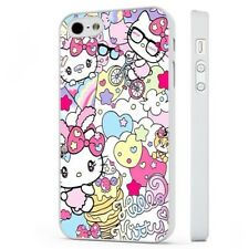 Hello Kitty Colourful Magical WHITE PHONE CASE COVER fits iPHONE