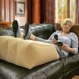 Inflatable Elevation Wedge Foot Leg Rest Raiser Pillow Cushion Sofa Gaming Relax