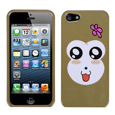 For Apple iPhone 5 5S SE HARD Protector Case Snap On Phone Cover Monkey Joy