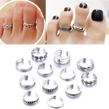 12pcs/Set Adjustable Celebrity Women Vogue Simple Toe Foot Ring Beach Jewelry #