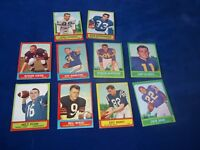 10-1963 TOPPS FOOTBALL CARDS-BERRY-PLUM-WADE-COGDILL-BASS-MARCONI