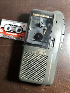 Radio Shack Micro-22- Microcassette Tape Recorder With Cassette Tested Used
