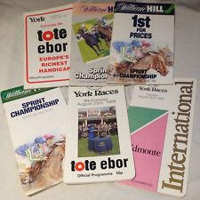 6x Race Cards horse racing 1989 1984 1985 York Rainbow Quest Tote Ebor Juddmonte