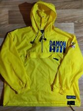 Damon Hill Formula F1 Windbreaker Hooded Nylon Jacket Hoodie Rainproof Racing