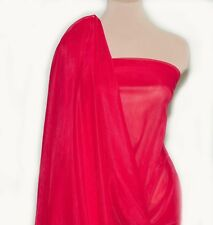 """NYLON TRICOT KNIT  SHEER LINGERIE FABRIC RED 108"""" WIDE BTY"""