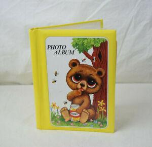 Vintage 70s 80s Honey Bear Mini Photo Album Yellow Made in Japan