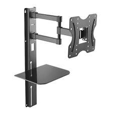 Fernseher Wandhalterung Glasablage TV LCD LED 3D Neigbar Schwenkbar 23-42 Zoll