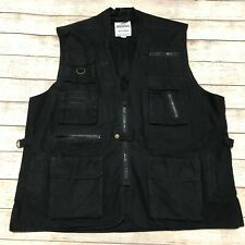 Rothco Outback Safari Travel Vest Adventure Hunting Camping Men's Size Xl Black