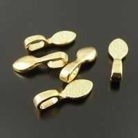 Antique Gold Tone Alloy Glue On Bail Pendants Charms Crafts Findings 50pcs 33191