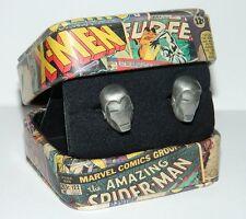 Marvel Comics Iron Man 3-D Mask Metal Cufflinks with Gift Box U.K. NEW UNUSED
