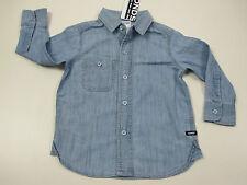 Bonds Boys Long Sleeve Button Down Denim Shirt size 7 Colour Wash Denim
