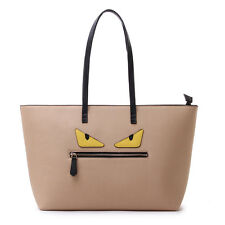 New Women's Girls Genuine Cow Leather Roll Monster Tote bag.   Seller from USA