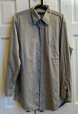 Amherst & Brock men's grey twill dress shirt, size 15.5, 32/33