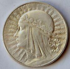 Poland 10 Zlotych, 1933, Queen Jadwiga, Warsaw Mint