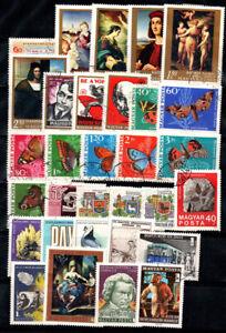 Hungary 1968-69 Used 100% art, paintings, Lenin, butterflies