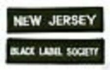 BLACK LABEL SOCIETY NEW JERSEY NJ MEMBER CLUB PATCH SET