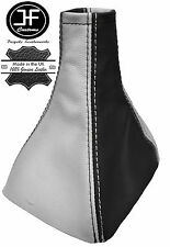 BLACK & WHITE REAL LEATHER GEAR GAITER FITS VAUXHALL OPEL ASTRA MK3 III F 91-98