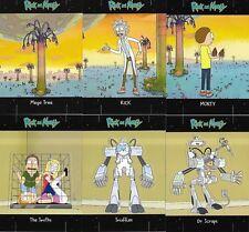 Rick and Morty Season 1 Hobby Chase Insert Card Set Standees E1 - E6