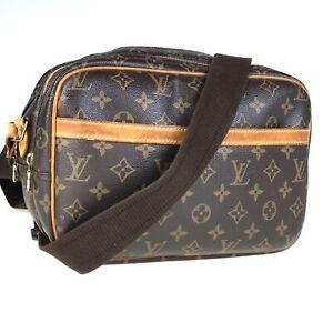 100% authentic Louis Vuitton mono reporter M45254 bag used 1450-12Z5