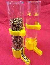 Alimentador del Pájaro x 2 bebedor de agua semilla Clipper fuente periquito amarillo canario Finch