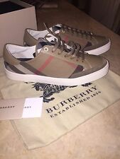 BURBERRY MEN'S SHOES TRAINERS SNEAKERS NEW REYNOLD BROWN 41 EU 8/8.5 US SPAIN