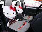 1 Set New Hello Kitty Cat Cute Universal Car Seat Covers Cushion Ice Silk Black