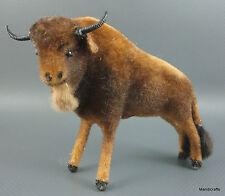 Wagner Bison Wool Flocked Buffalo 1960s Kunstlerschutz Rabbit Fur Putz Lrg 3.5in