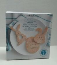 Williams Sonoma Easter 3 pc Pancake Cilicone Molds New..../#R4