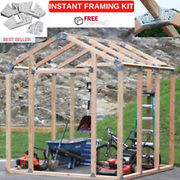 Instant Framing Kit With 24 Steel Angles 12 Steel Base Plates & Plans To 3 Sizes