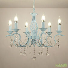 New Mediterranean style Crystal Chandeliers LED Iron Pendant lamp Ceiling lights