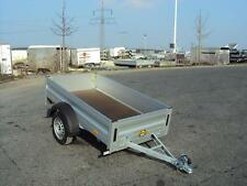 Humbaur HA 752111 , ALU Pkw- Anhänger 750 kg, Front- u. Heckwand klappbar