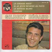 """BECAUD Gilbert Vinilo 45 tours EP 7"""" LA GRAN NOCE VOIX SONIDO MAESTRO 600 RARO"""