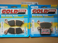 FULL SET (OFF-ROAD) FRONT & REAR SINTERED BRAKE PADS For: HONDA CR 250 (RW) 1998