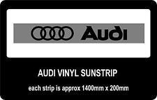 Audi sun strip / window banners