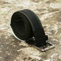 NEW D&G Dolce & Gabbana Khaki Canvas & Leather Belt GENUINE RRP: £170 BNWT