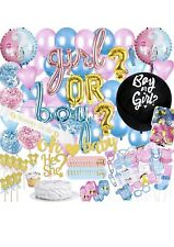 Prime Pure-Gender Reveal Party Supplies, Baby Shower Boy or Girl Decoration Kit