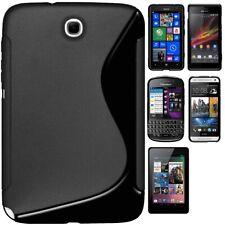 AMZER Solid Black TPU Hybrid Case For iPad BlackBerry Nexus HTC Nokia Galaxy Tab