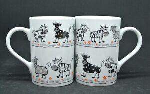 Tasse 2 Kaffeebecher mit Kühen ca10,5cm Firma Könitz,guter Zustand nicht benutzt