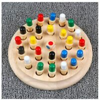 Wooden Memory Match Chess Toy Fun Table Board Game Children Educational Toys