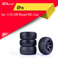 4x ZD Racing 85mm Wheel Hub Rim & Rubber Tires For Off-Road Buggy 1/10 RC Car