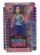 """Barbie Rock N Royals Blue Mini Doll Zia 4"""" NEW"""