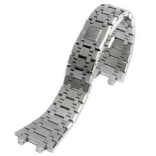 28mm Silver Solid Stainless Steel Watch Strap for Watches Butterfly Watchband