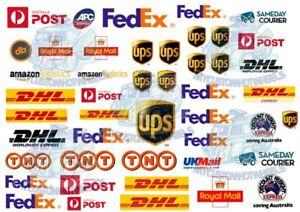 Courier and Postal Services Decal Pack | Decals in all scales from 1:64 to 1:18