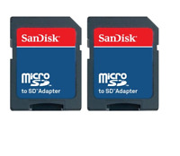 FREE SHIPPING 2Pcs sandisk Micro SD Memory Card TF *ADAPTER only* NO sd card