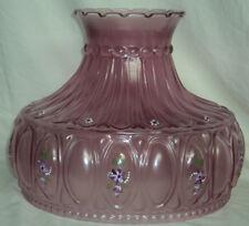 """Aladdin Violet Mist Floral Glass Lamp Shade 10"""" Fitter"""